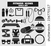 set of fitness black icons in... | Shutterstock .eps vector #236770117