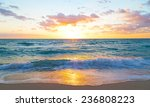 sunrise over the ocean in miami ... | Shutterstock . vector #236808223