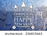 merry christmas and new year... | Shutterstock . vector #236815663