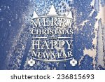merry christmas and new year... | Shutterstock . vector #236815693