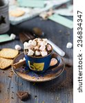 hot chocolate with cinnamon | Shutterstock . vector #236834347