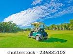 Golf Cart At The Beautiful Gol...