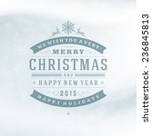 christmas retro typography and... | Shutterstock .eps vector #236845813