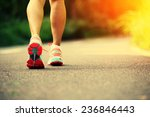 young fitness woman legs... | Shutterstock . vector #236846443
