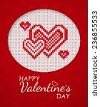 romantic card for valentine's... | Shutterstock .eps vector #236855533
