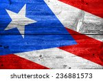 puerto rico flag painted on old ... | Shutterstock . vector #236881573