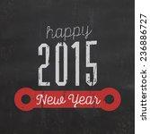 vintage new year typographic... | Shutterstock .eps vector #236886727