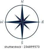 compass rose on white...   Shutterstock .eps vector #236899573