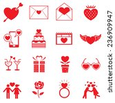 icons set   love objects | Shutterstock .eps vector #236909947