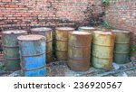 Rusty Barrels  Of Green  Blue...