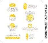set of bakery bread logo.... | Shutterstock .eps vector #236925163