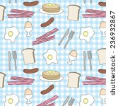 breakfast table cloth fun... | Shutterstock .eps vector #236932867
