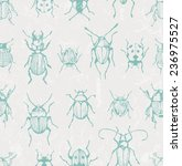 seamless print with bugs. eps... | Shutterstock .eps vector #236975527