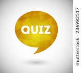 quiz vector icon | Shutterstock .eps vector #236982517