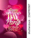 valentine day party design with ... | Shutterstock .eps vector #236990587