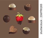 chocolates and chocolate... | Shutterstock .eps vector #236998183