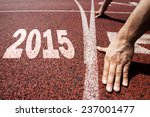happy new year 2015   hands on... | Shutterstock . vector #237001477