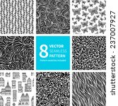 set of black and white abstract ... | Shutterstock .eps vector #237007927