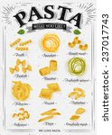 poster set of pasta with... | Shutterstock .eps vector #237017743