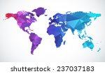 abstract world map | Shutterstock .eps vector #237037183