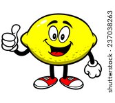 lemon with thumbs up | Shutterstock .eps vector #237038263