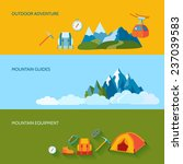 mountains camping banners set... | Shutterstock . vector #237039583