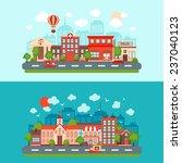 city summer street urban town... | Shutterstock . vector #237040123