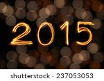 2015 written with sparkling... | Shutterstock . vector #237053053