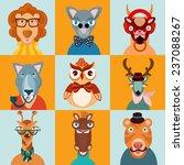 hipster trendy dressed wild... | Shutterstock . vector #237088267