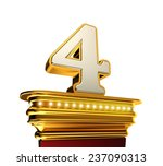 number four on a golden... | Shutterstock . vector #237090313