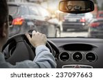 man in sunglasses drive a car | Shutterstock . vector #237097663
