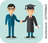 illustration of graduate and... | Shutterstock .eps vector #237098863