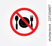 no eating vector sign no food... | Shutterstock .eps vector #237106807