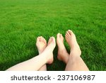 couple relax barefoot enjoy... | Shutterstock . vector #237106987