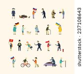 people in the city. vector set | Shutterstock .eps vector #237108643