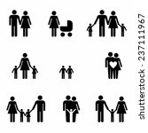 family icons set | Shutterstock .eps vector #237111967