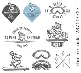 set of retro ski emblems ... | Shutterstock .eps vector #237117727