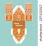 printable gift gingerbread... | Shutterstock .eps vector #237122317