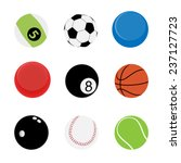 9 sport balls vector and icon... | Shutterstock .eps vector #237127723