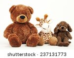 Soft Plush Toy Animals Isolate...