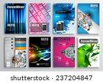 set of flyer design  web... | Shutterstock .eps vector #237204847