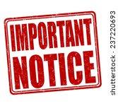 important notice grunge rubber...   Shutterstock .eps vector #237220693