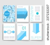 vector brochure design... | Shutterstock .eps vector #237232207