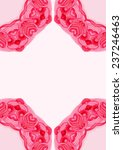 watercolor ornament on pink... | Shutterstock .eps vector #237246463