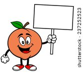 peach with sign | Shutterstock .eps vector #237252523
