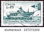italy   circa 1971  a stamp... | Shutterstock . vector #237272203