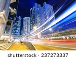 night busy traffic in the hong... | Shutterstock . vector #237273337