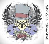 rock n roll symbol  | Shutterstock .eps vector #237287347