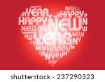 colorful heart shaped card... | Shutterstock .eps vector #237290323
