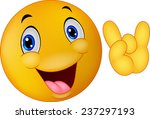 emoticon smiley giving hand sign | Shutterstock .eps vector #237297193